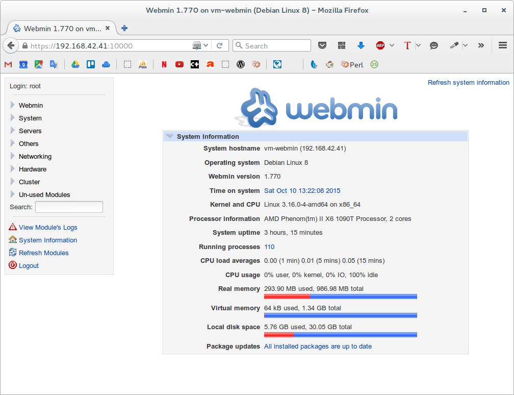 webmin-home-page