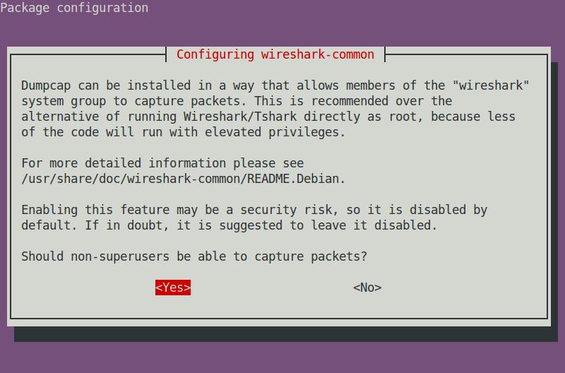 dpkg-reconfigure wireshark-common